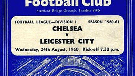 CHELSEA v LEICESTER CITY 1960/61 Division 1 MATCHDAY PROGRAMME