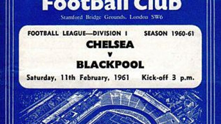 CHELSEA v BLACKPOOL 1960/61 Division 1 MATCHDAY PROGRAMME