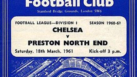 CHELSEA v PRESTON NORTH END 1960/61 Division 1 MATCHDAY PROGRAMME