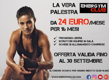 La nuova promozione Energym Club
