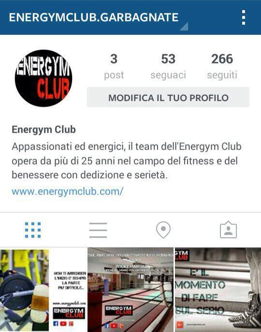 Instagram Energym Club