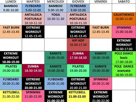 Nuovo calendario corsi