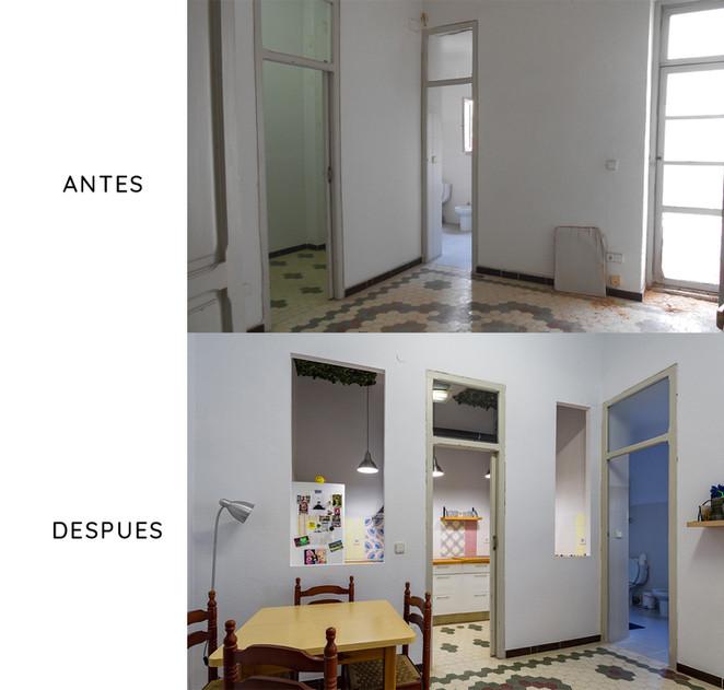 Reforma de espacio para crear una cocina nueva, Burjassot (Valencia).
