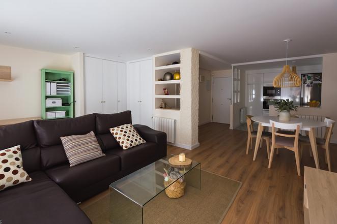 Reforma completa de vivienda, Valencia. Vista del salón-comedor.