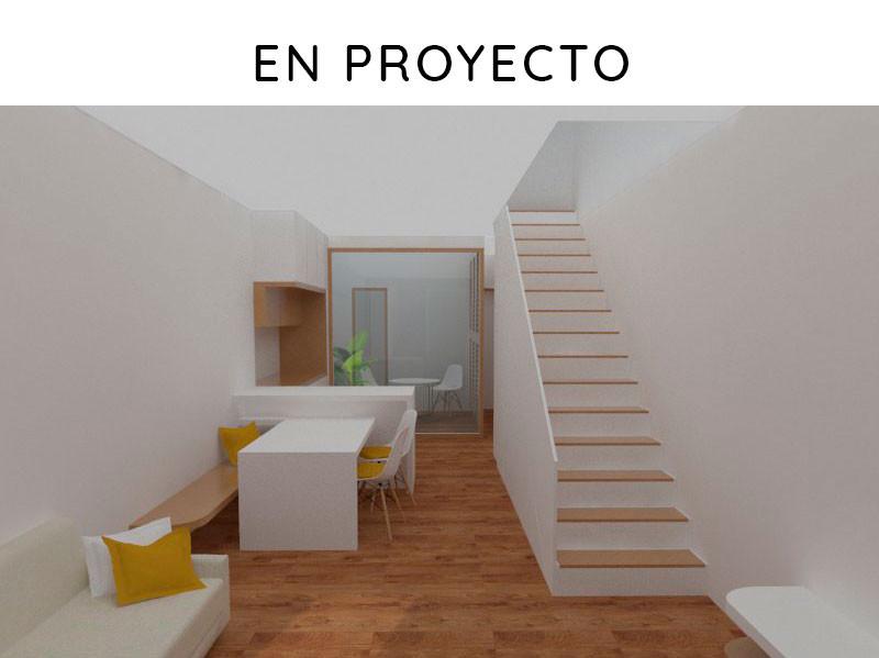 Proyecto de obra nueva: vivienda unifamiliar entre medianeras. Vista del proyecto.