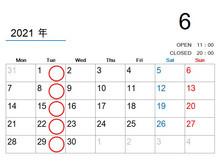 【6月の休業日のご案内】