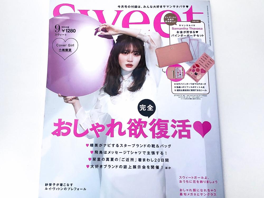 SWEET 雑誌掲載 サングラス オプティシァンロイド ロイド 金子眼鏡 原宿 表参道