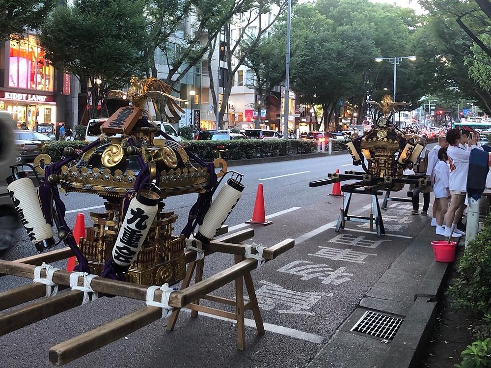 原宿 神輿 お祭り メガネ オプティシァンロイド