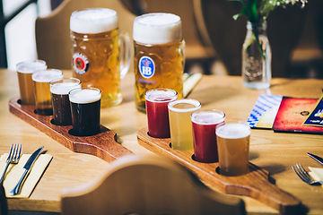 beer paddles at Bavaria Brauhaus