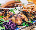 Roast Chicken at Glasgow's BAvaria Brauhaus