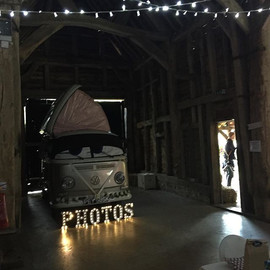 Photobooth inside the barn, bet your guests would never expect this _rushallorganics