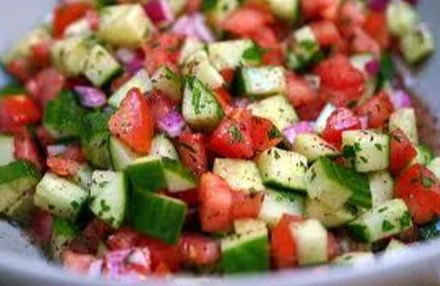 Tomato and Cucumber basil salad Braai.PN