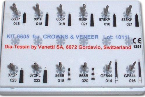 KIT 6605 FOR CROWNS & VENEER