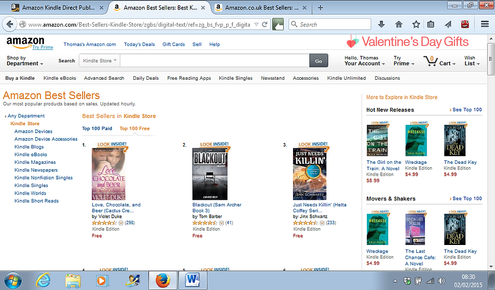 Blackout #2 Overall Free US Kindle Store 2nd Feb 2015.png