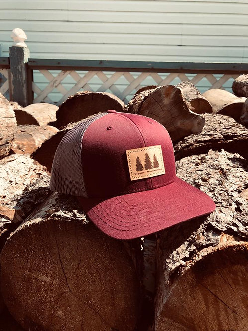 BiggArt Woodworking Hat - Burgundy
