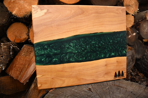 The River Board - Olive Wood & Emerald Green Resin