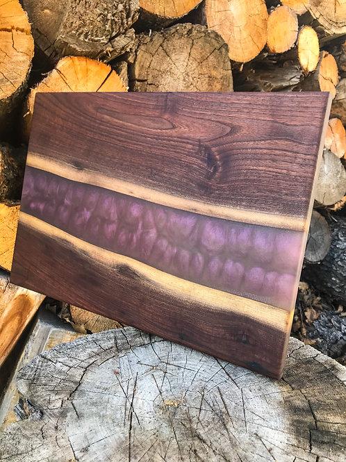 The River Board - Walnut & Sangria Resin