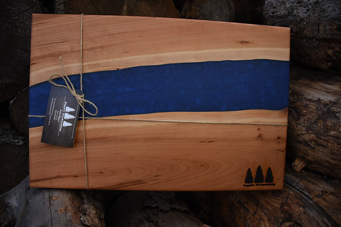 The River Board - Cherry & Azure Blue Resin
