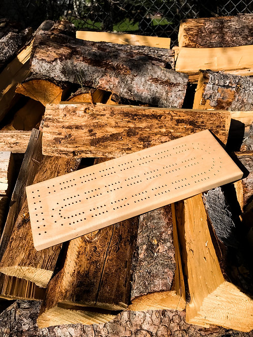 Cribbage Board - Maple