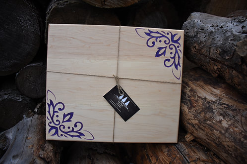 Maple & Purple Resin Filled Cutting Board