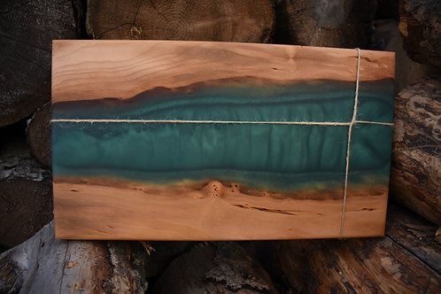 The River Board - Cherry & Emerald Green Resin