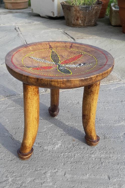 Small wooden 3 legged stool