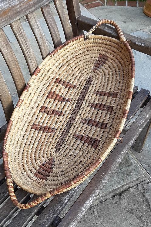 Traditional flat basket
