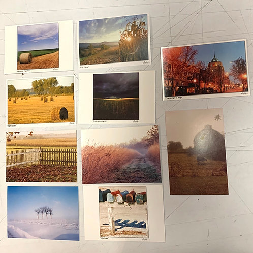 Champaign Urbana Postcards, set of 20