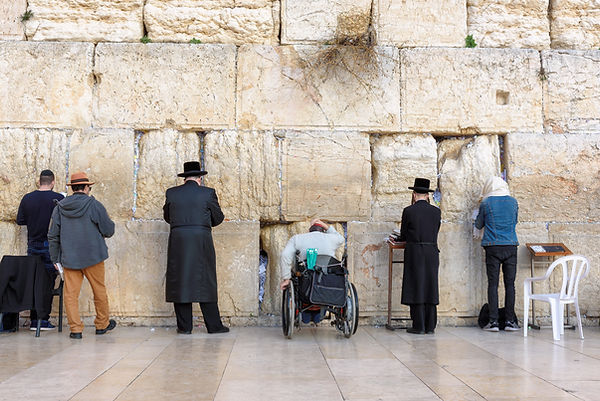 The Western wall or Wailing wall is the