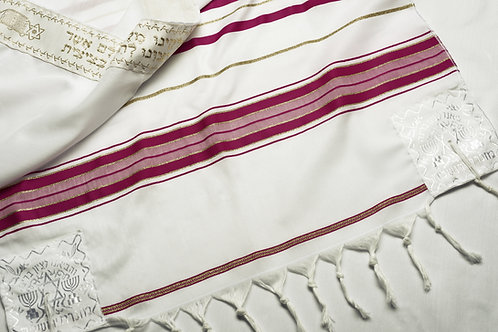 TA008 - Acrylic Fuchsia Prayer Shawl (Tallit)
