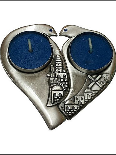 YC044 - Jerusalem Doves Candle Holders