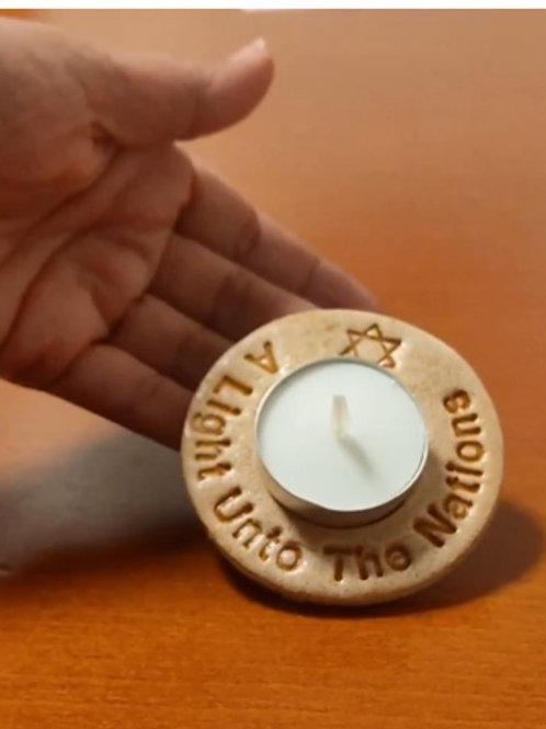 Pray for Jerusalem Candle holder