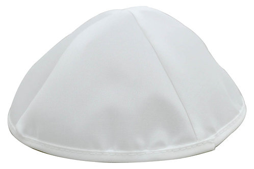 K1 - White Satin Kippa set  - 10 units