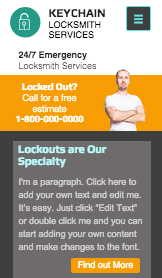 See All Templates website templates – Locksmith