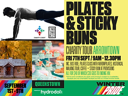 Pilates + Sticky Buns Charity Tour Arrowtown