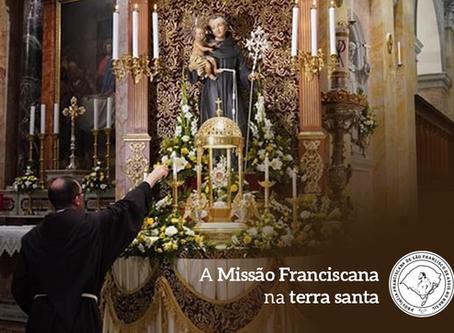 Santo Antônio, padroeiro da Custódia, da Terra Santa.