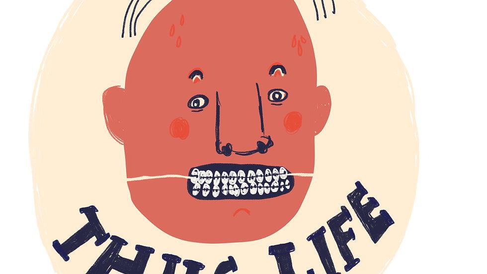 6 stickers 'Thug life'