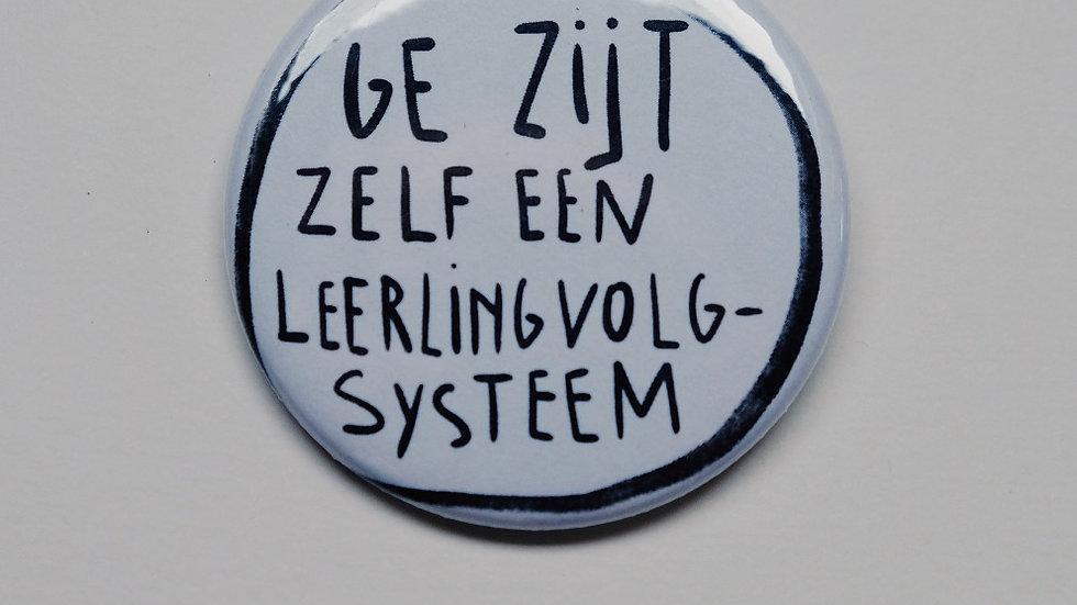 Button 'GE ZIJT ZELF EEN LEERLINGVOLGSYSTEEM'