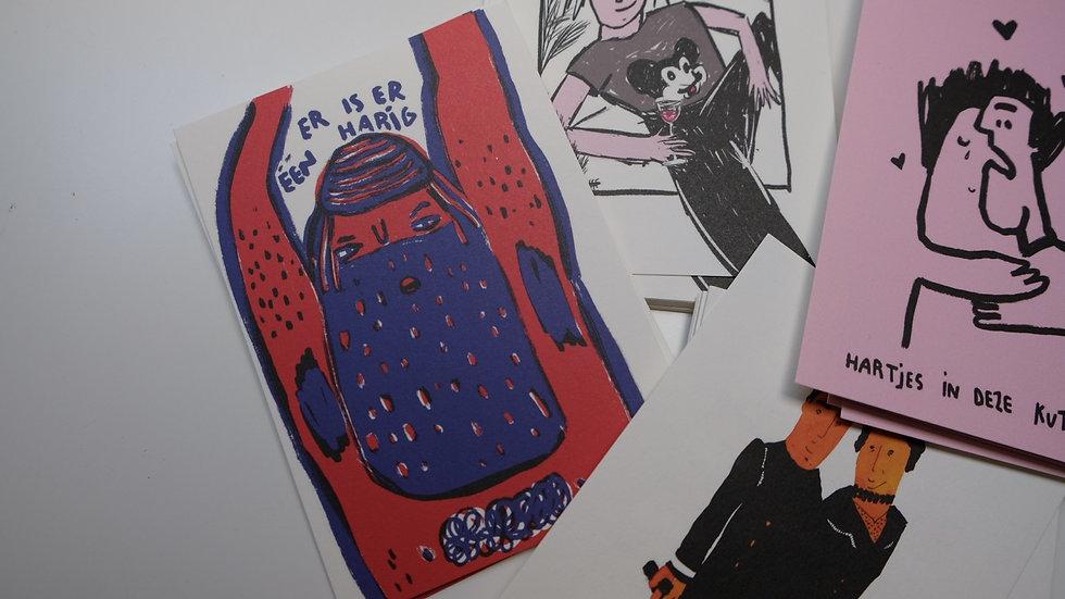 Postkaartjes: set van 10 stuks