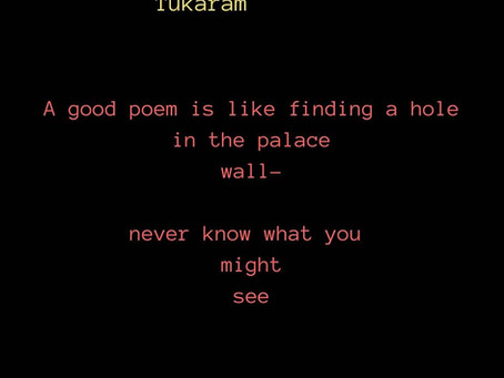 god lives in his words - tukaram