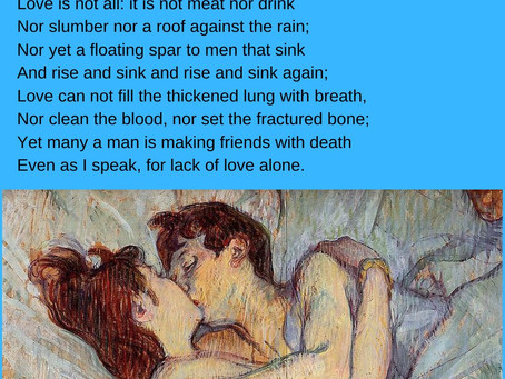 love is not all - edna st. vincent millay