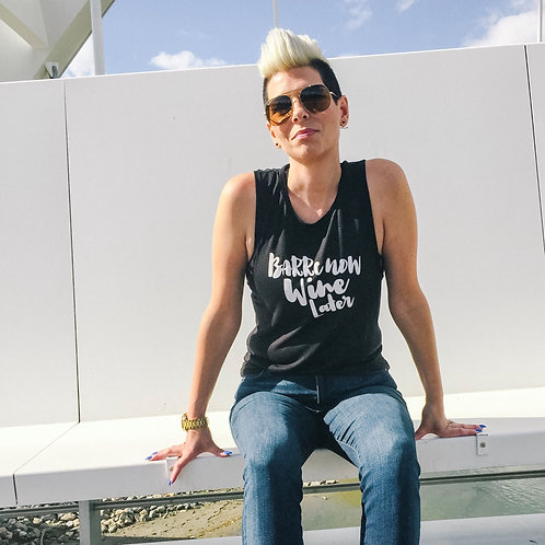 High Neck, Low Sides Tank