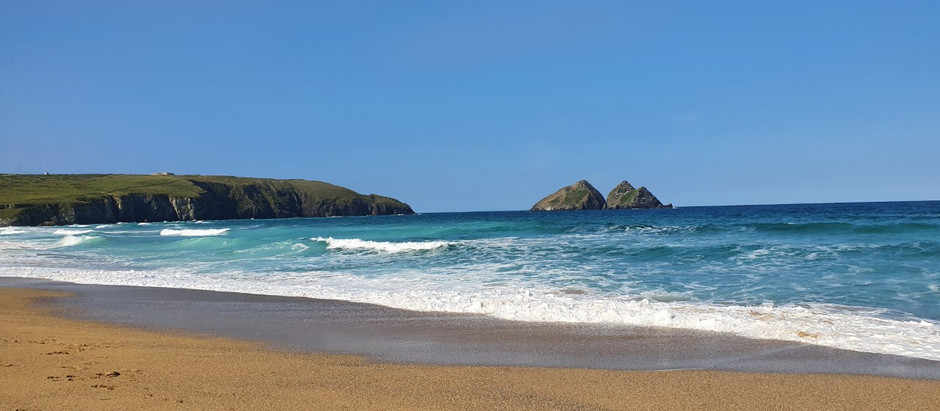 Battling the crowds in the Costa del Cornwall.