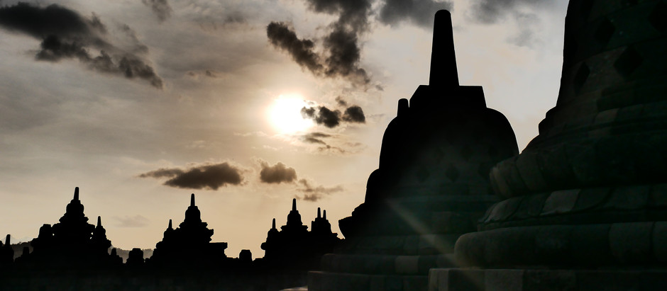 Trapped in the Temple: Borobudur after dark.