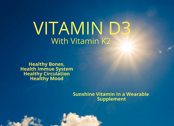 VITAMIN D3 WITH K2  Topical Patch