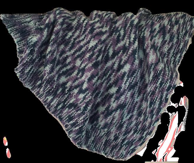 Baby Bassinet Blanket - Patterned Purple