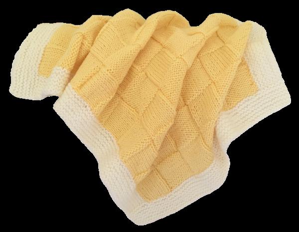 Baby Bassinet - Lemon/Cream
