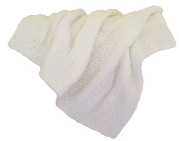 white baby knit blanket