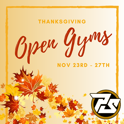 THANKSGIVING OPEN GYMS