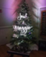 Wash bars uplighting a Christmas tree